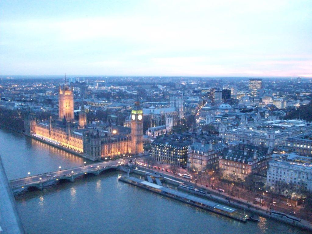 Big Ben aus der Sicht des London Eye