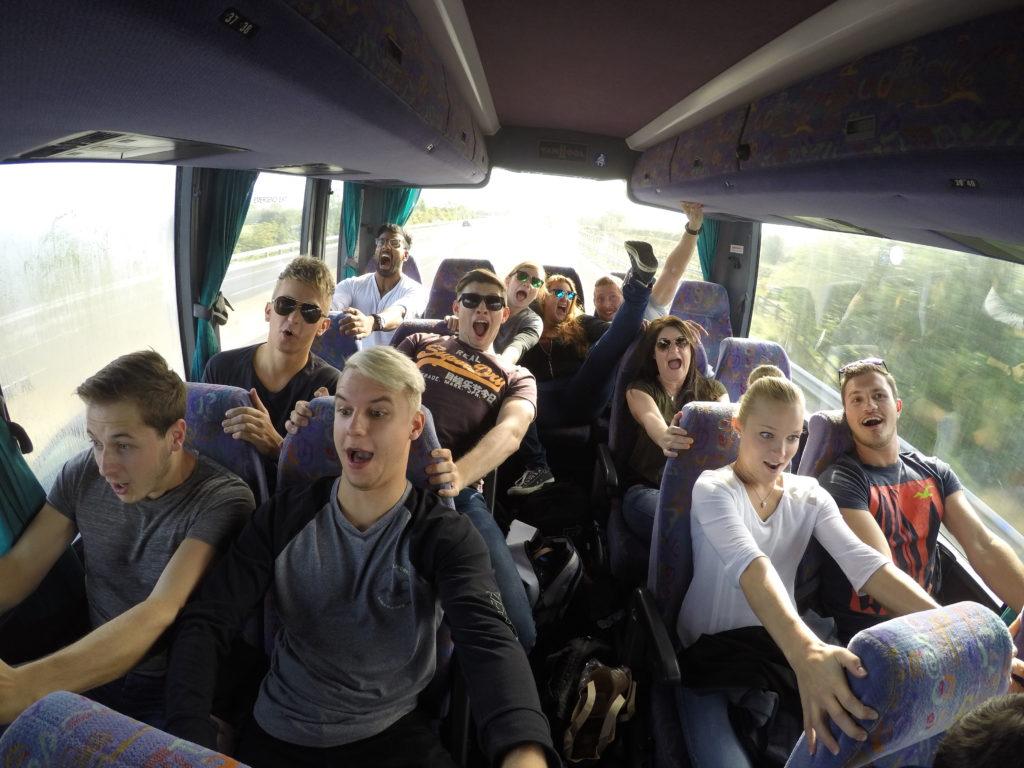 Gute Stimmung im Bus